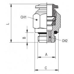 Boquilla tobera de pulverización OD B 2.5gal/h 60ºB, Semisólido 030B0115