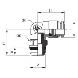Fitting Inline Caudal DN6 PVC G1/2 Tipo S030 GS84-PVFF-P5-0-00-0-000/00-0  *
