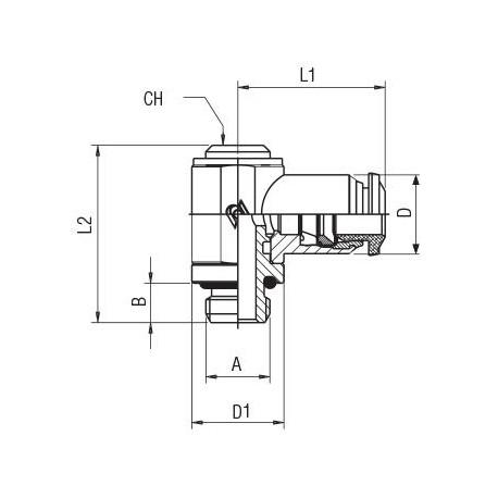 """Valvula de embolo 2/2 vias servopilotada Tipo 0406-A-13.0-EG G1/2"""" 24/50 8W"""