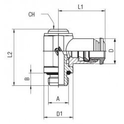 Válvula de Clapeta Oscilante Acción Directa Tipo  0331-C-3.0 NBR FLNSCH 230V 8W