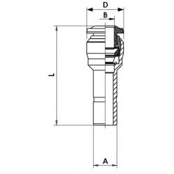 Válvula de Paso 3/2 Vías de Efecto Directo Tipo 0355-C4-BF-MS-GM 1/4 24DC 12W