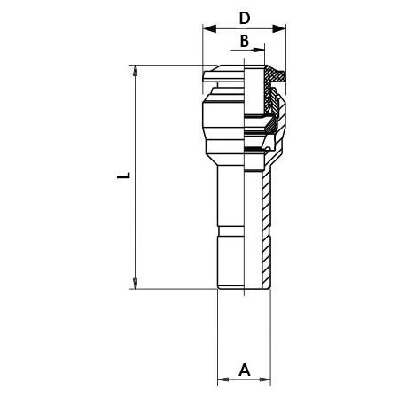 Valvula de paso 3/2 vias de efecto directo Tipo 0355-C4-BF-MS-GM 1/4 24DC 12W