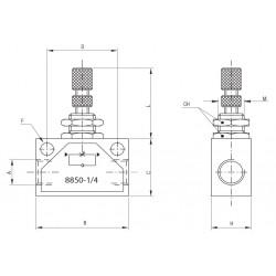 """Valvula de seguridad TOSACA roscada 1216 INOX CF3M/316L DN1/2x3/4"""" 14Bar"""